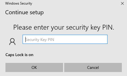 Enter your existing PIN