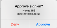 Approve or Deny sign-in request of the MS Authenticator app.