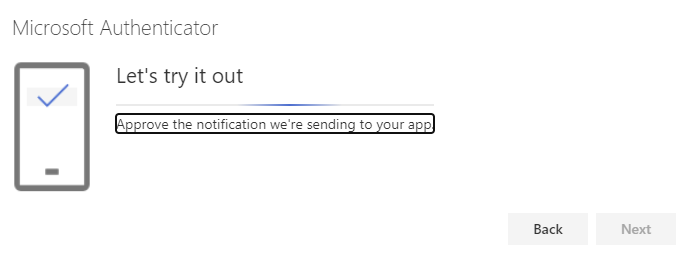 Screenshot showing that the system is sending a notification to the app