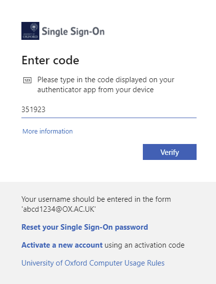 Type the six-digit passcode from the Authy app in the Enter code page and click Verify